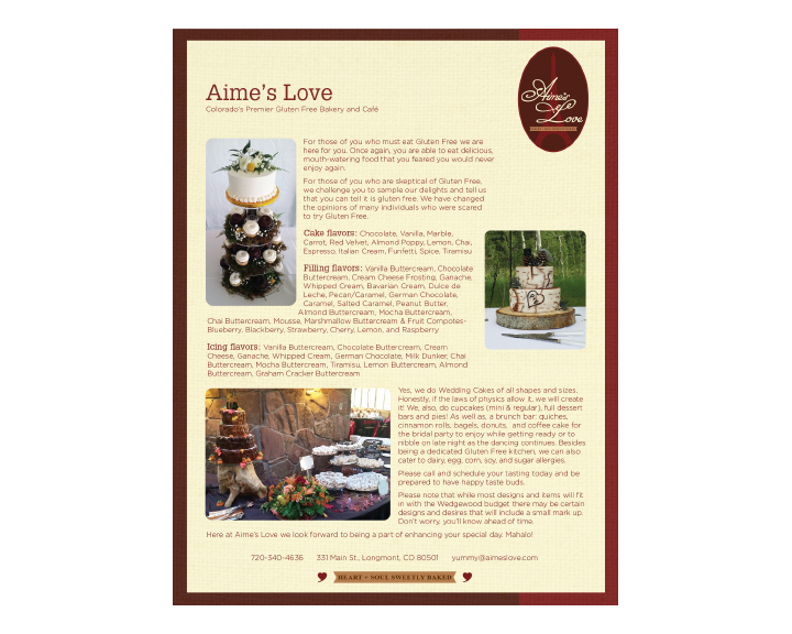 Aimes Love flyer