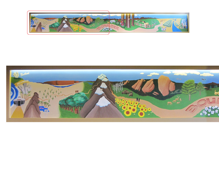 Native Foods Cafe mural, left side