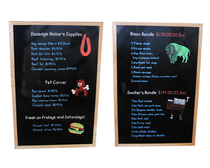 Butcher shop small signs