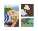 Native Foods Cafe mural details