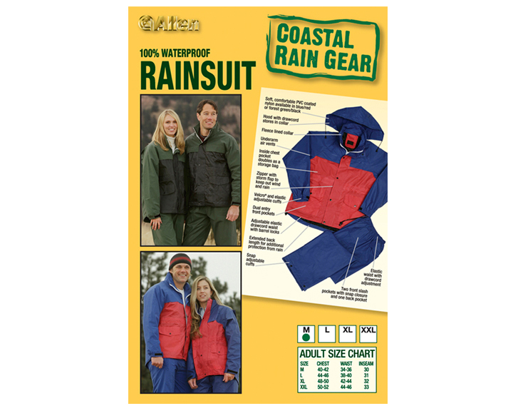 Rainsuit insert card